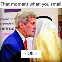 Quand on sent l'odeur du pétrole.