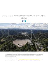 Le radiotéléscope d'Arecibo va devoir être détruit