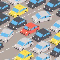 La voiture rouge avance ou recule ?