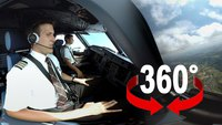 Vue d'un kockpit d'avion, vidéo a 360°