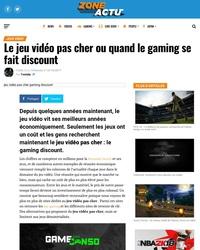 Le jeu vidéo pas cher ou quand le gaming se fait discount