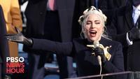 Lady Gaga lors de l'investiture de Joe Biden
