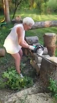 Grand mère a eu de la chance