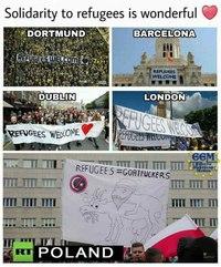 La solidarité avec les réfugiés et la .. Pologne