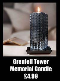 Bougie mémorial tour Grenfell