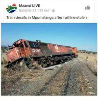 Un train déraille après le vol de sa ligne de chemin de fer