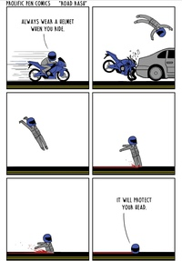 Toujours porter un casque en moto