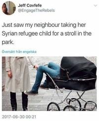 Balade avec un enfant réfugié Syrien