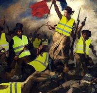 La nouvelle (?) Liberté conduisant le nouveau (?) peuple, d'après Delacroix