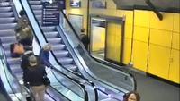 Les escalators et les valises