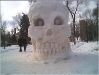 Squelette de neige