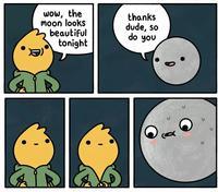 wow, la lune est magnifique ce soir