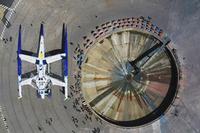 Un X-wing posé sur l'Etoile de la mort