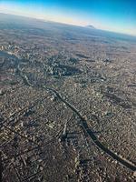 Vue du ciel de la plus grande ville du monde