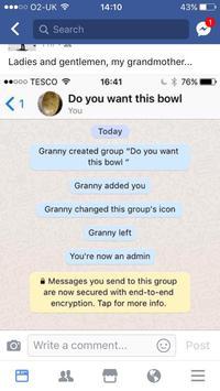 Grand mère tente une question sur WhatsApp