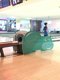 Hippopotame au bowling