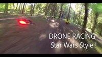 Course de drônes façon Star Wars