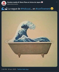 Hokusai... en confinement