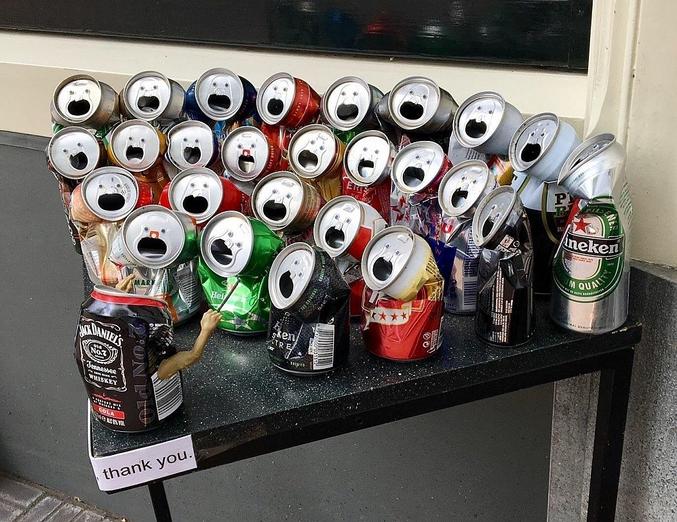 Des canettes qui chantent.