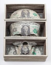 Sculpture sur billets