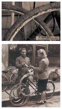 Réparer sa roue pendant la Seconde Guerre Mondiale