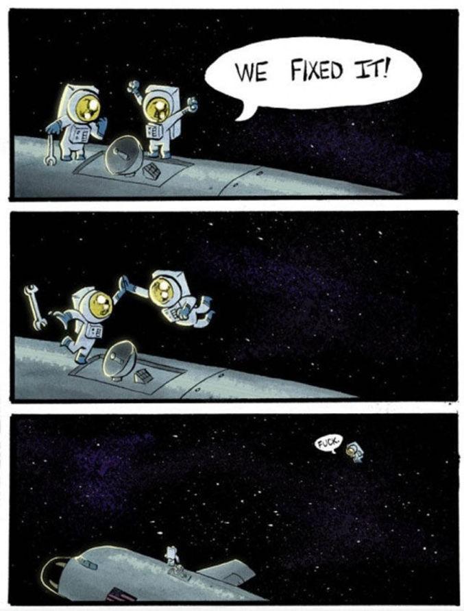 Sutout pas dans l'espace!!!