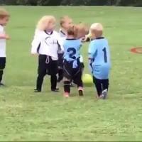 Une partie de football