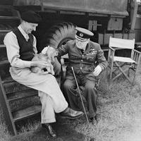 Rare photo de Montgomery, Churchill et Rommel