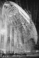 construction du dirigeable USS Macon en 1934
