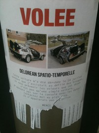 DeLorean volée