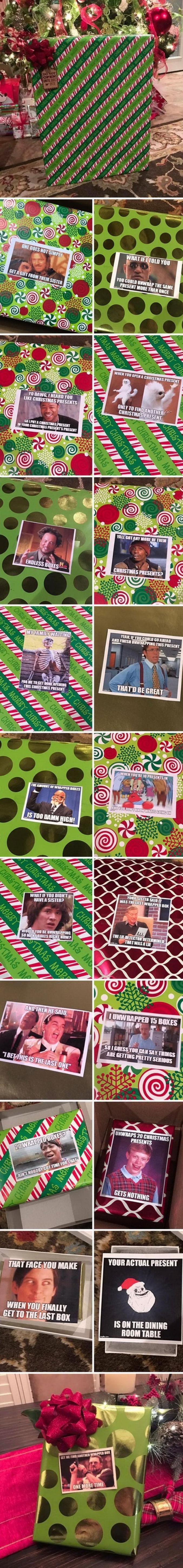 Un cadeau dans un cadeau dans un cadeau [...] dans un cadeau de ta soeur !