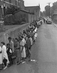 """Fin des années 40, début des années 50, les """"Colored People"""" se déplacent en masse pour voter"""