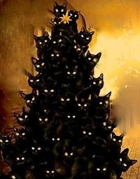 Arbre de Noël à chats