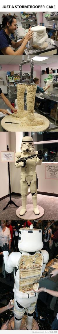 Gâteau Stormtrooper