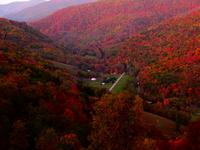 Les montagnes de la Virginie-Occidentale en automne