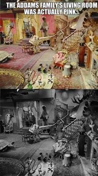La véritable couleur du salon de la Famille Addams