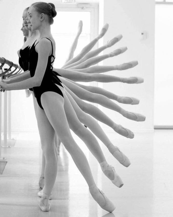 en danse classique.
