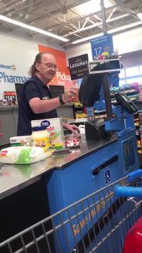 Flash au supermarché