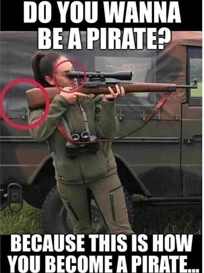 Mets bien ton œil collé à la lunette et ne cale pas la crosse sous ton aisselle. Un gentil recul te fera pareille à un pirate borgne !