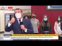 Quand Emmanuel Macron est prit d'un quinte de toux