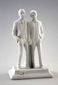 Sujet pour surmonter un gâteau de mariage gay.