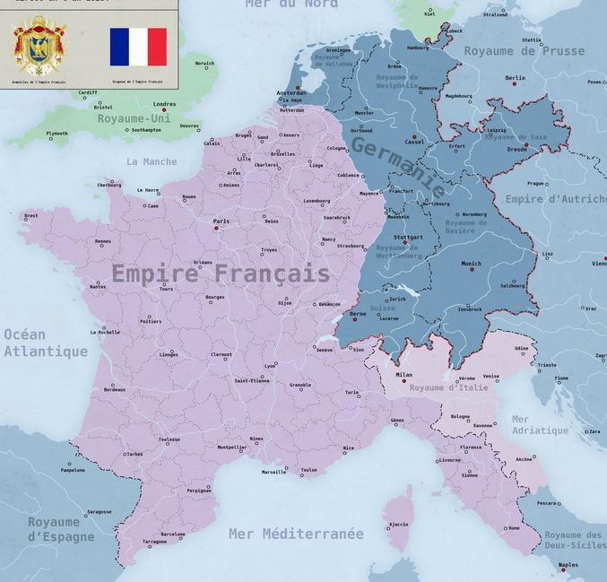 Qui allait des Bouches-du-Rhin (Bois-le-Duc) à Rome (ou Bouches-du-Tibre), cf https://fr.wikipedia.org/wiki/Liste_des_d%C3%A9partements_fran%C3%A7ais_de_1811