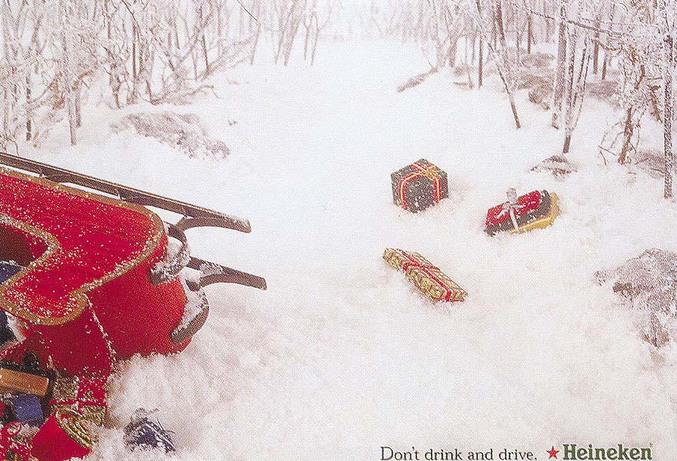 Boire ou conduire, il faut choisir.. Le père Noël hésite encore...