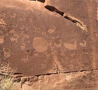 Des pétroglyphes, quelque-part dans l'Utah
