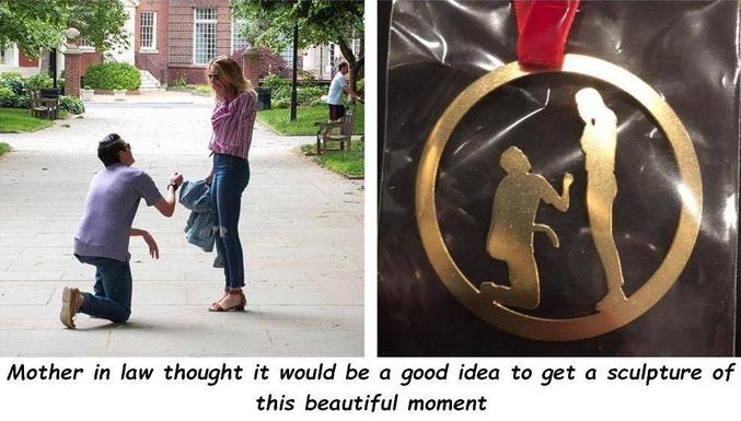 Ou comment immortaliser un beau moment sous le meilleur profil, juste avant que mademoiselle se fasse baguer.