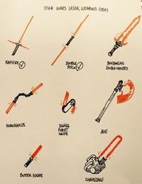 Des idées d'armes laser