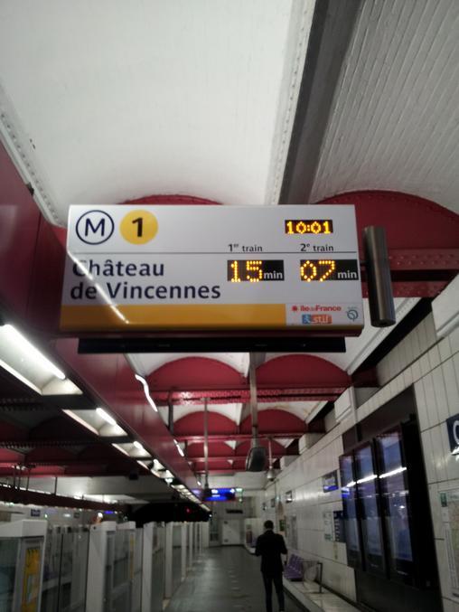 Un métro a atteint 88 miles/h ?