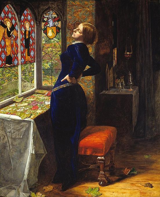 Peinture à l'huile de John Everest Millais exposée pour la première fois en 1851 à la Royal Academy de Londres. Elle fait référence à un poème de Tennyson de 1830, lui-même faisant référence à Mariana de Shakespeare dans Mesure pour Mesure. Lors de sa présentation il semblerait que le tableau a été étrillé par des critiques professionnels et le public. Seul Ruskin (Mécène de Millais ) défendit le tableau en arguant que rien n'était comparable, dans toute l'Academy, au travail de Millais à propos des drapés et notamment la nappe blanche.