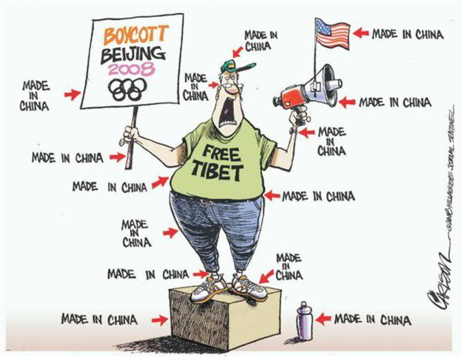 Une autre vision des manifestations anti-JO en Chine.