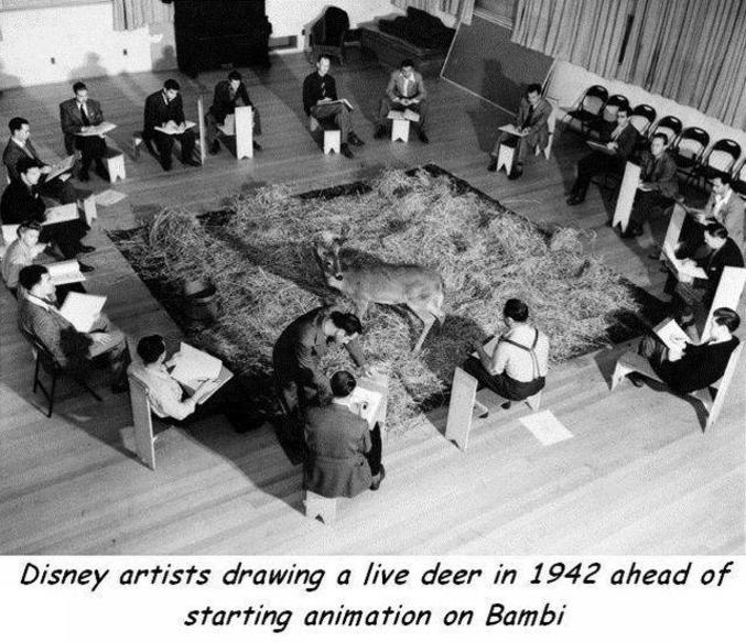 Par les dessinateurs de Walt Disney dans le cadre de Bambi.